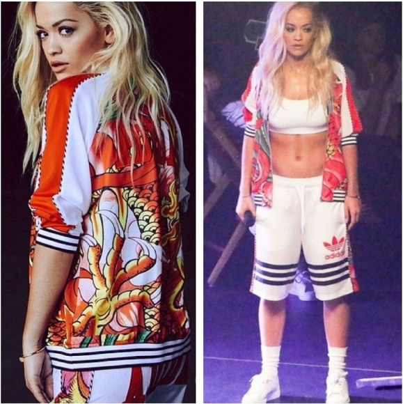68da7b606 Rare❤ Dragon Tattoo Rita Ora Track Jacket L